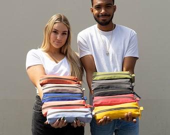 Organic Cotton Pencil Bag | Sustainable Gift | Pen Pouch | Organic Cotton Travel Bag | Simple Organizer Bag | Pencil Case | Pen Bag