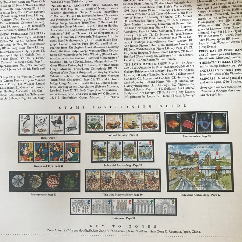 1989 Royal Mail Special Stamps Book and stamps with Slip Case
