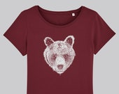 Brown bear T-shirt, Ladies