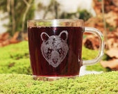 Bear glass mug