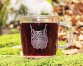 Lynx glass mug