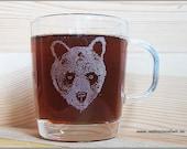 Bear glass mug