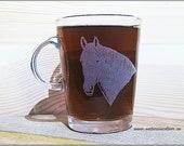 Lipizzaner horse glass mug