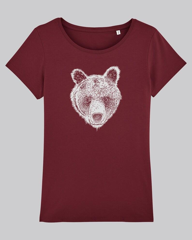 Brown bear T-shirt Ladies image 0
