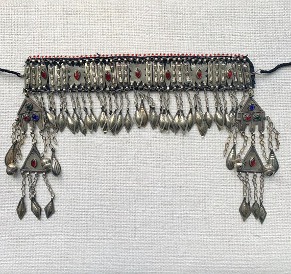 Vintage Turkmen Headdress, Turkomen Headdress, Tri