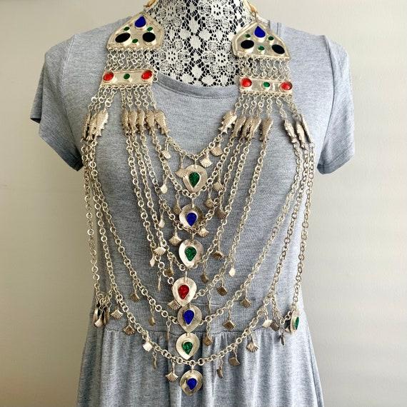 Vintage Kuchi Necklace, Afghan Necklace, Belly Dan