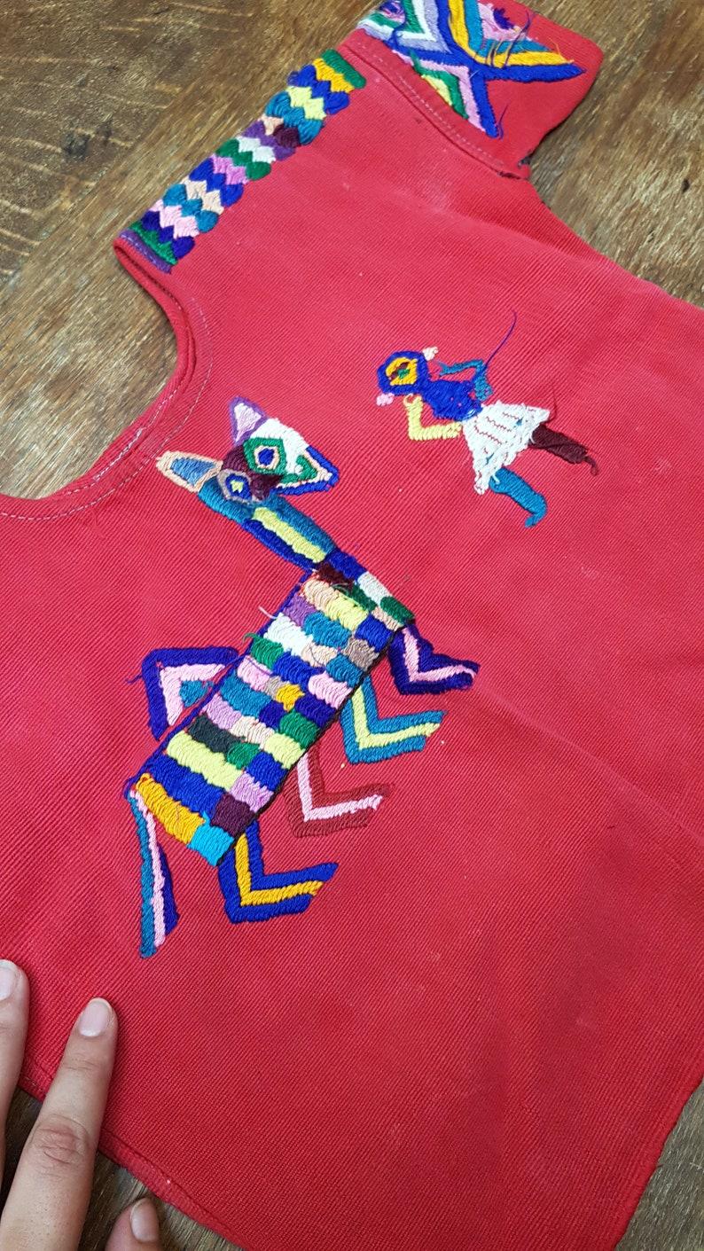 Vintage Girls  Childs Huipil Top 1970s Chajul Guatemala