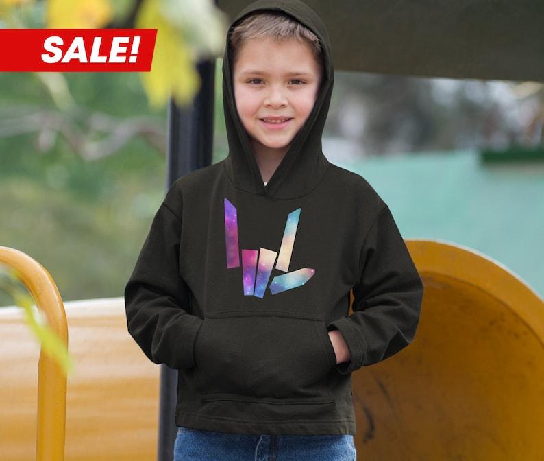 Kids Share The Love Galaxy Logo Hoodie Stephen Sharer Merch