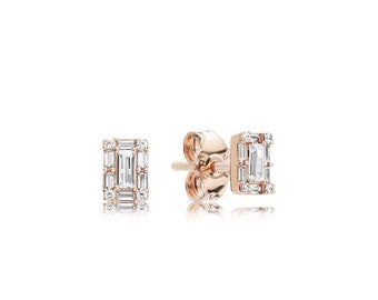 3ce8fdae3 925 ALE New Authentic Pandora Luminous Ice Rose Earrings - 287567CZ
