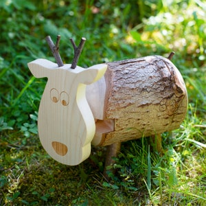 Piggy Bank Wood Piggy Bank for Kids Baby Shower Gift Woodland Nursery Decor