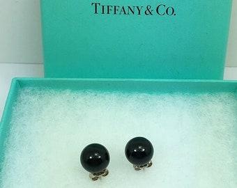 e3210f71d Tiffany & Co Silver Black Oynx Bead Earrings