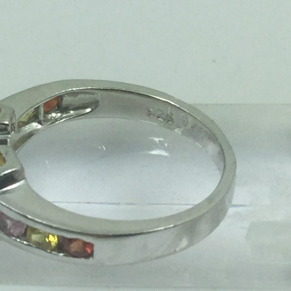 Beautiful Silver Ruby & Topaz Ring - image 4