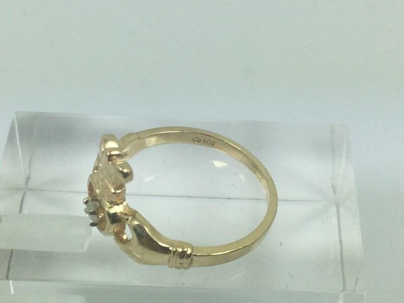 10k Gold Irish Claddagh Ring