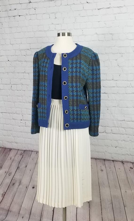 Argyle and Wool Sweater Cardigan