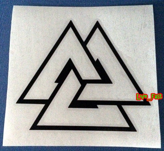 TRIPLE HORN OF ODIN DRUID NORDIC PAGAN Vinyl Decal Car Wall Sticker CHOOSE SIZE