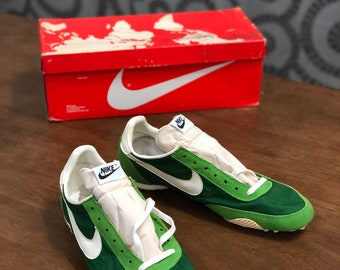 size 40 4e064 24298 Vintage 70s Nike Atletic West ATWEST spike shoes track shoes