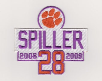 89f74bac3c0 Clemson Tigers Spiller Jersey Patch NCAA College Football Iron on Patch