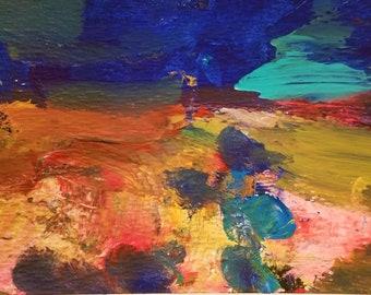 Ocean Daybreak Painting Print Postcard
