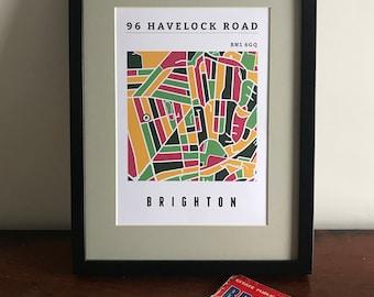Personalised address map Brighton & Hove