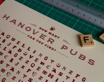 Hanover pubs wordsearch