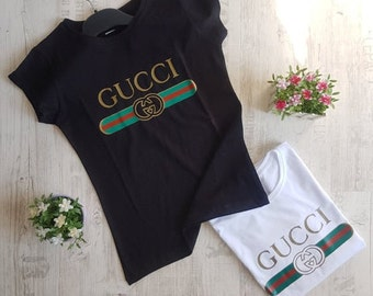 1d2b0c85699b new Gucci woman shirt lady top tee women cotton T-shirt black white women s