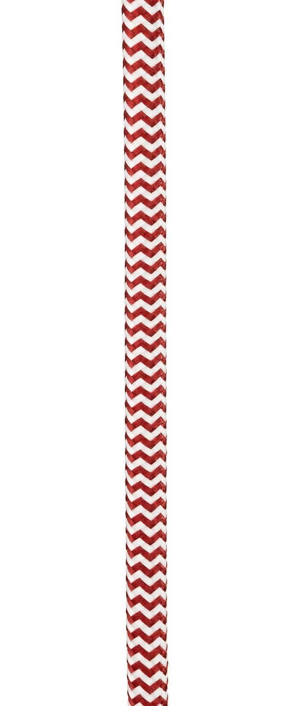 Fabriquer Lampe De Chevet Suspendu suspension luminaire, lampe de chevet, lampe baladeuse, lampe suspendue •  fil Électrique tissu • douille e27 • 4,5 mètres • rouge et blanc