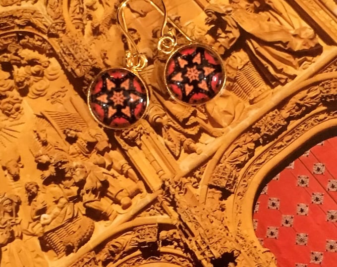 """Eye-cathing, Dangling Earrings with Vivid, Original Designs, 1.25"""" overall, .75"""" Charm, See Second Photo for Options"""