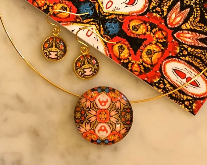 Bold, Intricately Detailed, Pendant & Earring Set, Buy as Set or Separates, Beautiful Gift to Give or Keep for Yourself!