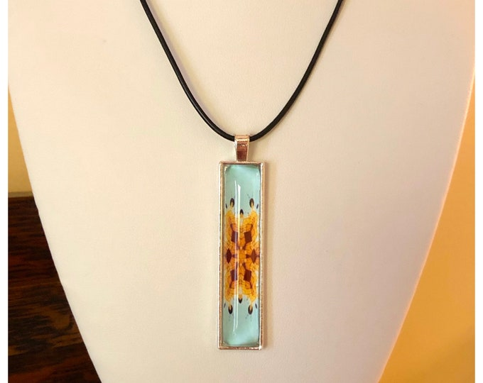 Lighthouse Pendant in Steel on Leather Necklace, Statement Piece, Designed from Original Photo of the Grosse Point Lighthouse, Evanston, IL