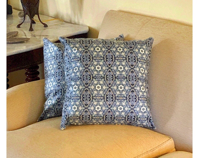 Classic Throw Pillow, Beautiful Addition to Your Home or Home Office, Rich, Intricate Details in Blues, Greens and Golds