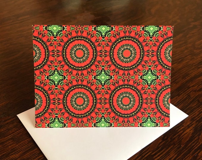 Happy Holidays! Set of 8 Note Cards & Envelopes, Original Design from Photo of Garden of Frank Lloyd Wright's Emil Bach House, Chicago