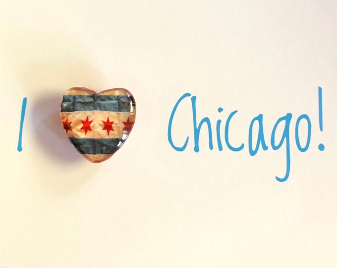 The I Heart Chicago Collection: Chicago Flag Key Rings, Magnets, Ornaments & Note Cards! Great to Gift or Keep!