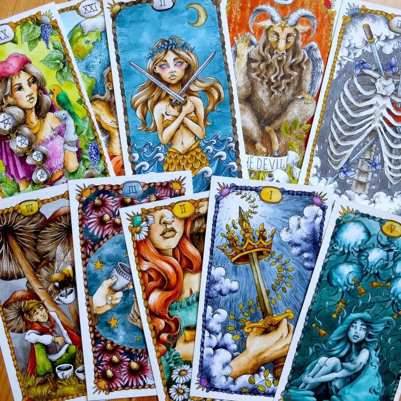 Hand Drawn Tarot Cards image 0