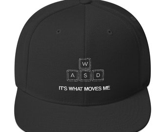 21987ba549c WASD Gamer - Video Game Lover - Pc Gaming Snapback Hat