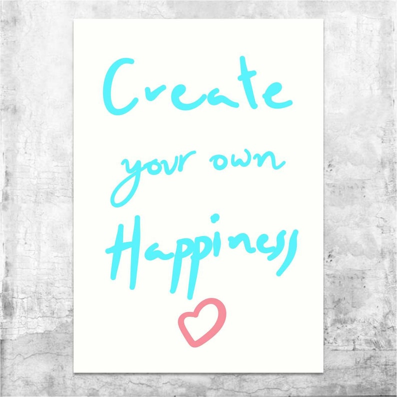 Happiness Quote, Inspirational Quotes, Motivational Quotes, Inspiring  Quotes, Digital Print, Wall Art