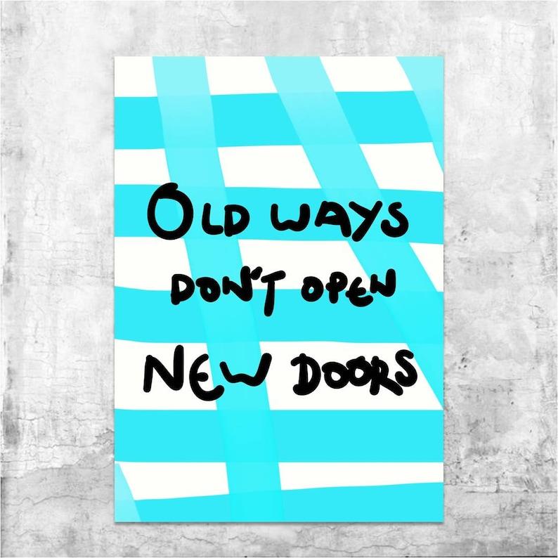 New Doors Quote, Inspirational Quotes, Motivational Quotes, Inspiring  Quotes, Digital Print, Wall Art