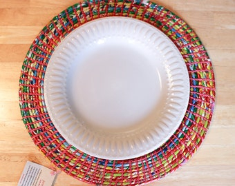 Recycled Plastic Placemats - Handcrafted Boho Placemats - Artisan Made Nepal