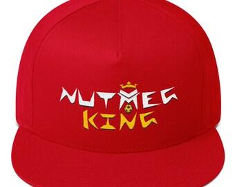 b5348c19750 Unisex Adult Snapback Hat  Cap - Nutmeg King Embroidery - Soccer Football  Baseball Freestyler version - Red  Black  Blue