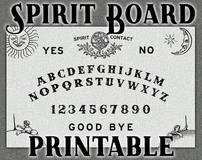 image regarding Printable Ouija Board titled Printable Spirit Board / Ouija Template - pdf, svg, png, ai