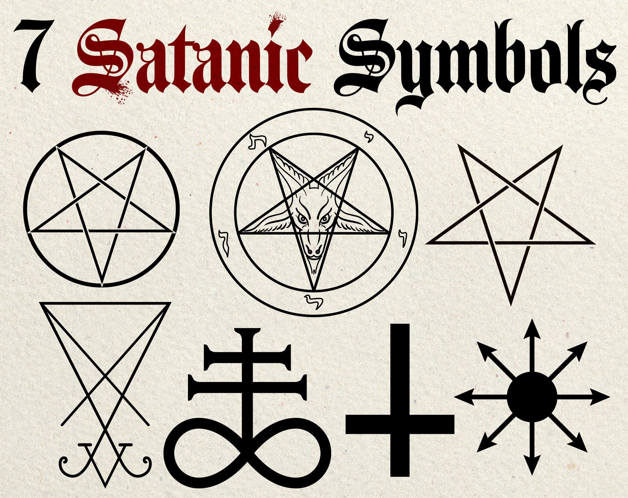 Satanic Symbols Clip Art Vector