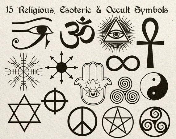 15 Religious, Esoteric & Occult Symbols Vector Clip Art