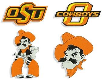 8b4538730ef Oklahoma State Cowboys Machine Embroidery Design Files