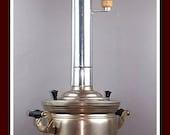 Vintage Soviet Samovar wood TULA ZSHV Fire Samovar 7 liters pipe chimney USSR