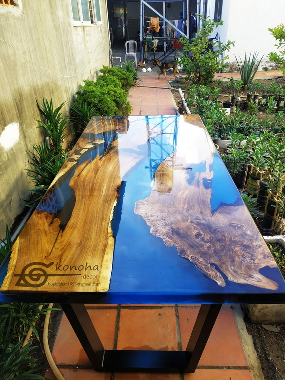 Blue River Table Top With Epoxy Inlay Cheapest Best Quality
