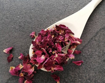 Dried Rose Petals for Tea, Rose Petals for Bath, Self Care, Romantic Gift for Him, Romantic Gift for Her, Food Grade Roses