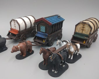 Cavern Carts and Wagons DnD Miniature Terrain, Dungeons and Dragons, D&D, Wargaming, Tabletop,  , Pathfinder, Age of Sigmar 28mm