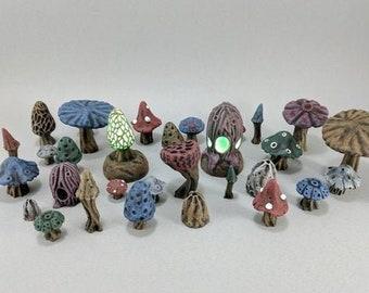 Mushrooms Set DnD Miniature Terrain | Dungeons and Dragons, D&D, Warhammer 40k, Wargaming, Tabletop, Pathfinder, Scatter, 28mm