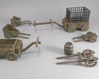 Cart and Wagons Jail DnD Miniature Terrain, Dungeons and Dragons, D&D, Pathfinder, Warhammer 40k, Wargaming, Tabletop, Scatter, 28mm
