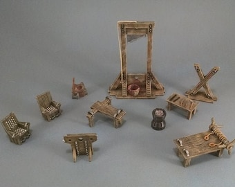 Dungeon Torture Chamber DnD Miniature Terrain | Dungeons and Dragons, Pathfinder, Wargaming, Tabletop, Scatter, Age of Sigmar