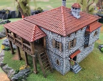 DnD Terrain Port Tavern - Fantasy Dwarve Elves and Demons | 28mm 32mm 15mm Miniature   Pathfinder D&D Tabletop